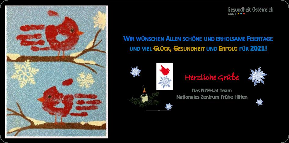 Grußkarte für Weihnachtsfeiertage und Neujahr 2021