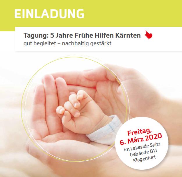 Poster zur Tagung 5 Jahre Frühe Hilfen Kärnten